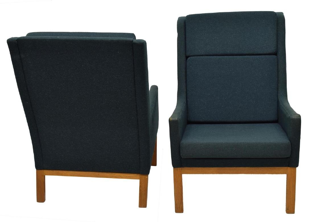 (2) DANISH MID-CENTURY MODERN ARM CHAIRS, LARSEN - 2