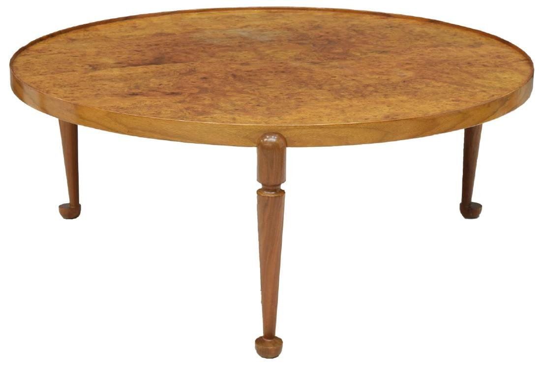 JOSEF FRANK BURLWOOD CIRCULAR COFFEE TABLE