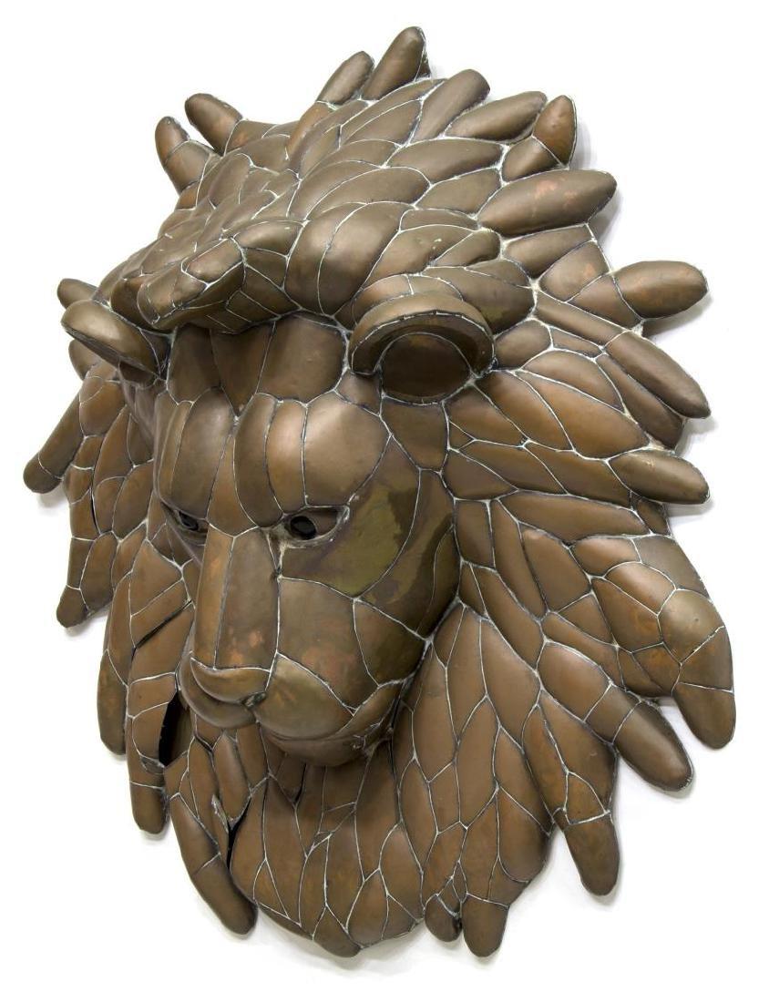 SERGIO BUSTAMANTE LION HEAD WALL SCULPTURE - 2