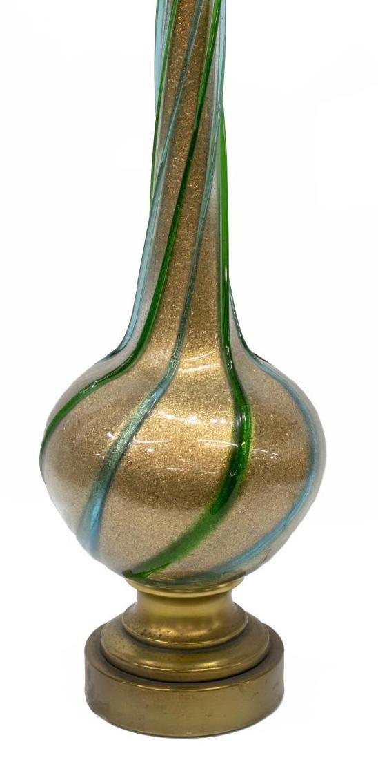 VINTAGE MURANO ART GLASS GILT FLECKED TABLE LAMP
