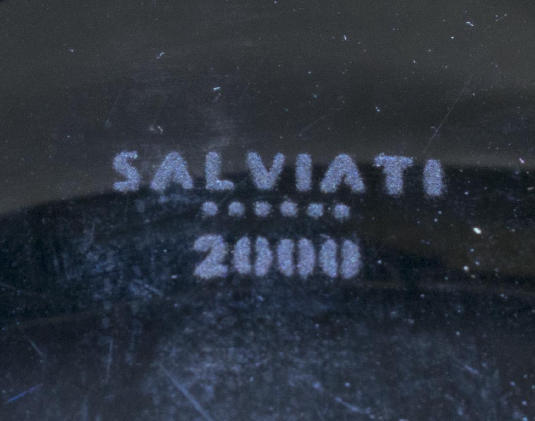 SALVIATI ITALIAN MURANO ART GLASS CENTERPIECE BOWL - 4