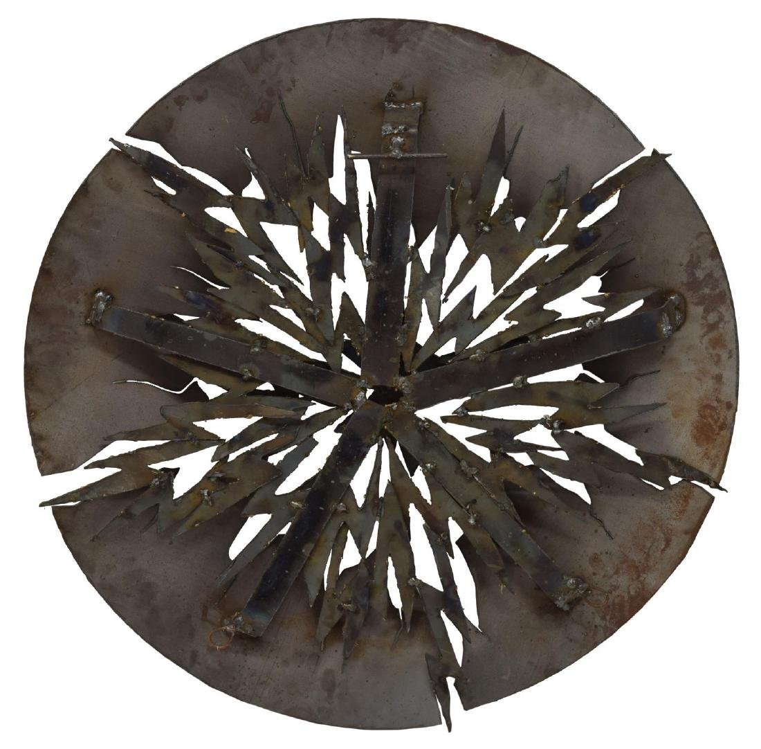MODERN CIRCULAR 3 DIMENSIONAL STEEL WALL SCULPTURE - 3