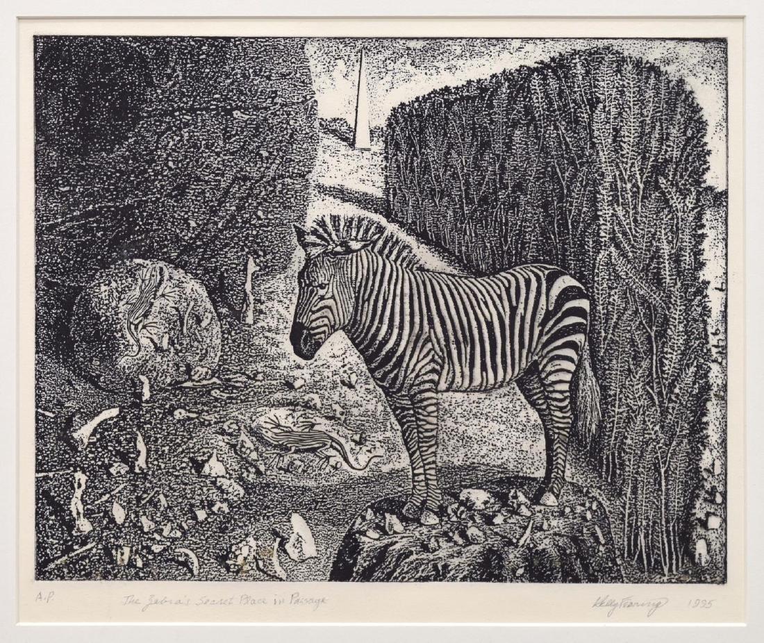 KELLY FEARING (1918-2011) A.P. ETCHING, ZEBRA