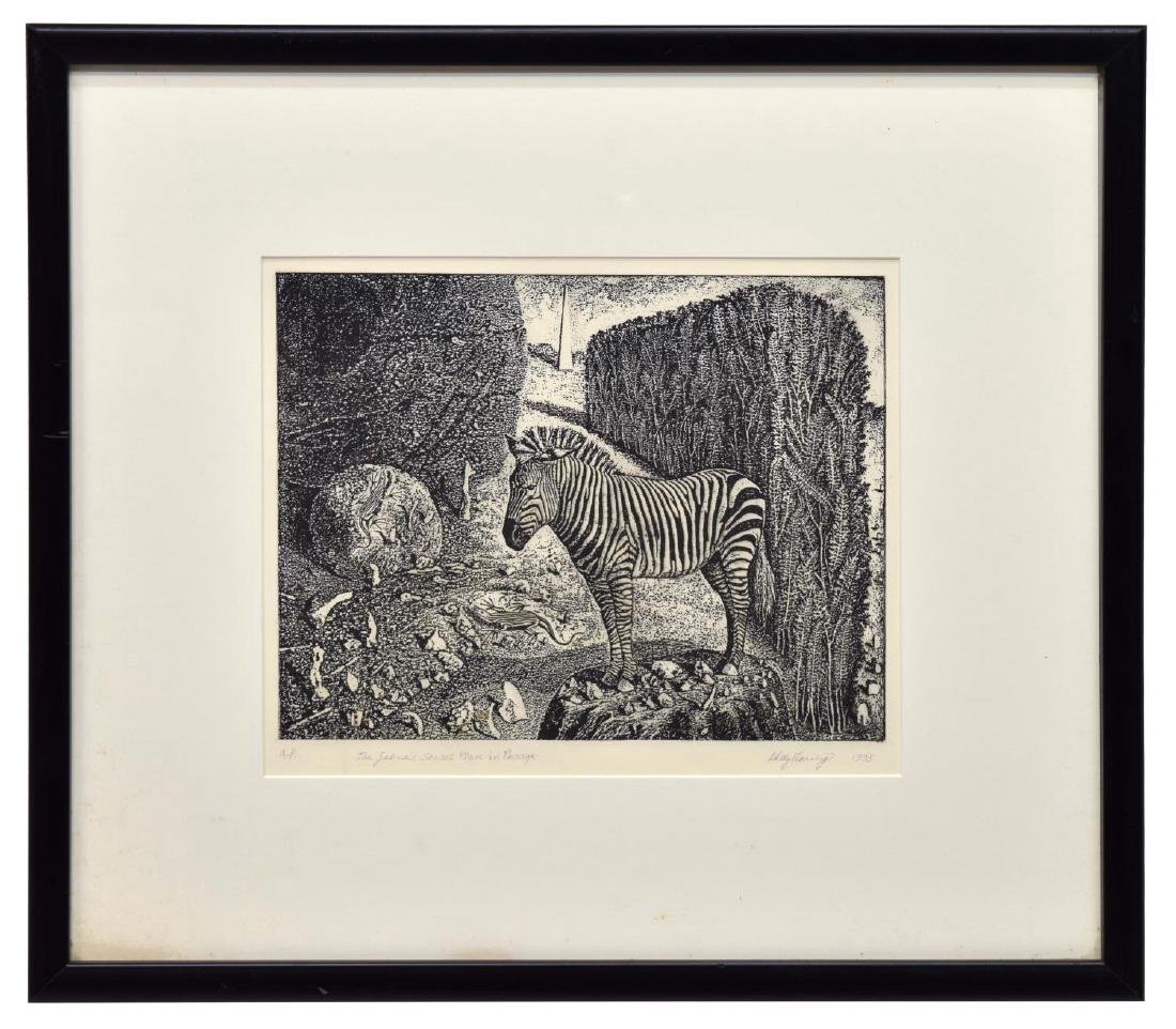 KELLY FEARING (1918-2011) A.P. ETCHING, ZEBRA - 2