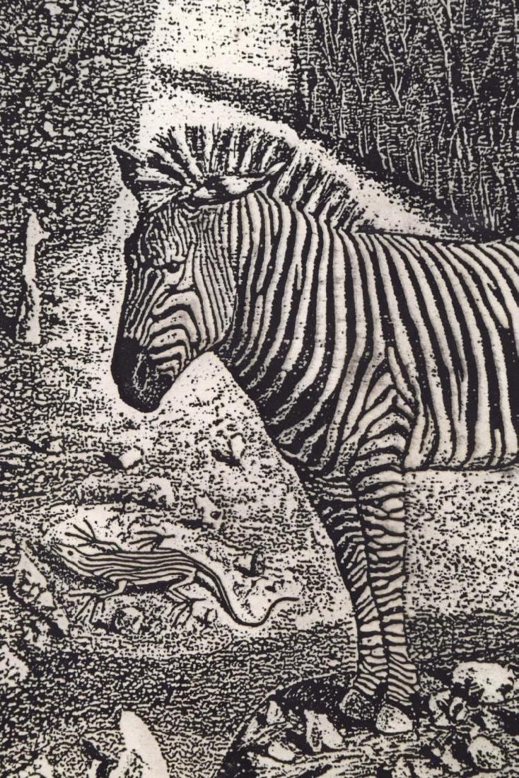 KELLY FEARING (1918-2011) A.P. ETCHING, ZEBRA - 3