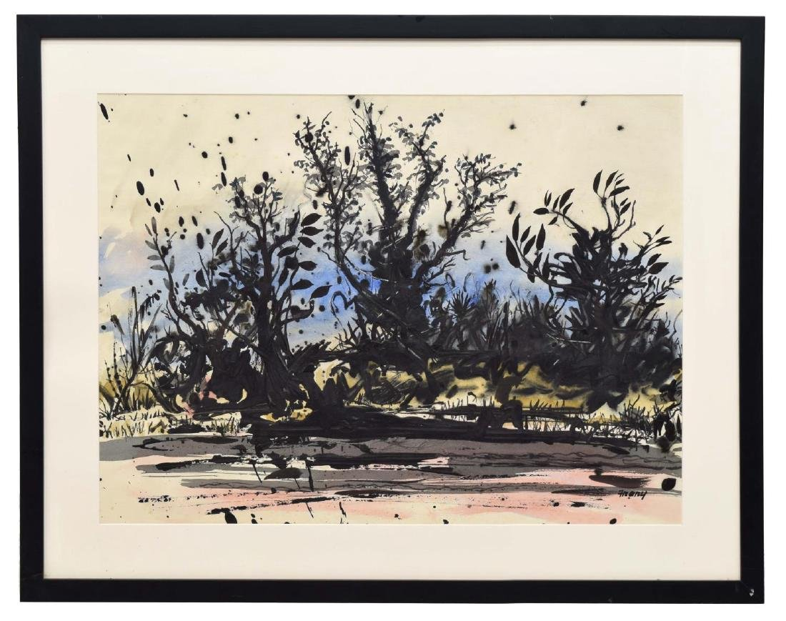 MICHAEL FRARY (1918-2005) WATERCOLOR, TREES - 2