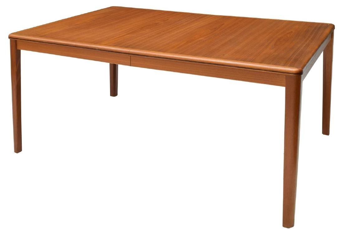 DANISH MID-CENTURY MODERN TEAK EXTENSION TABLE