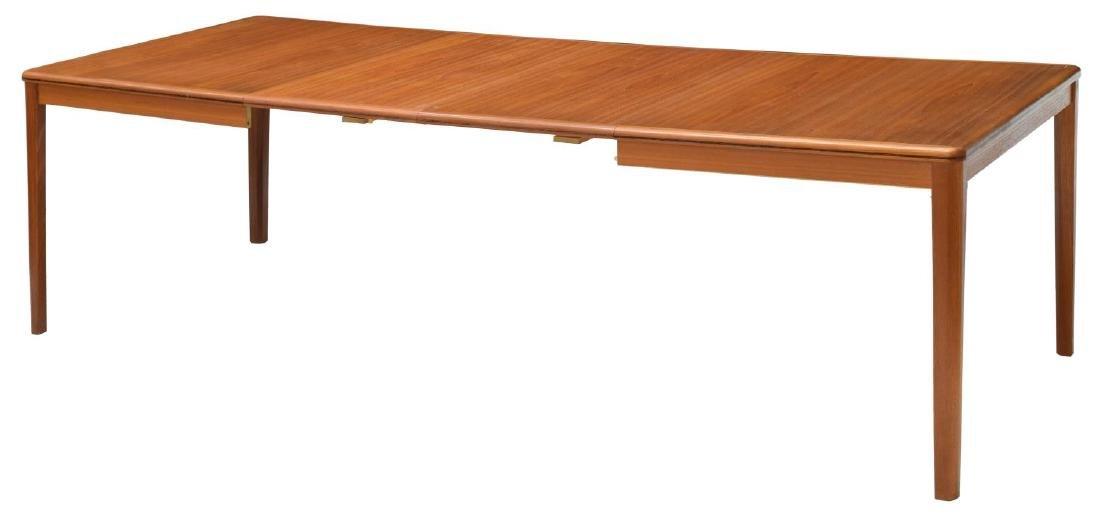 DANISH MID-CENTURY MODERN TEAK EXTENSION TABLE - 2