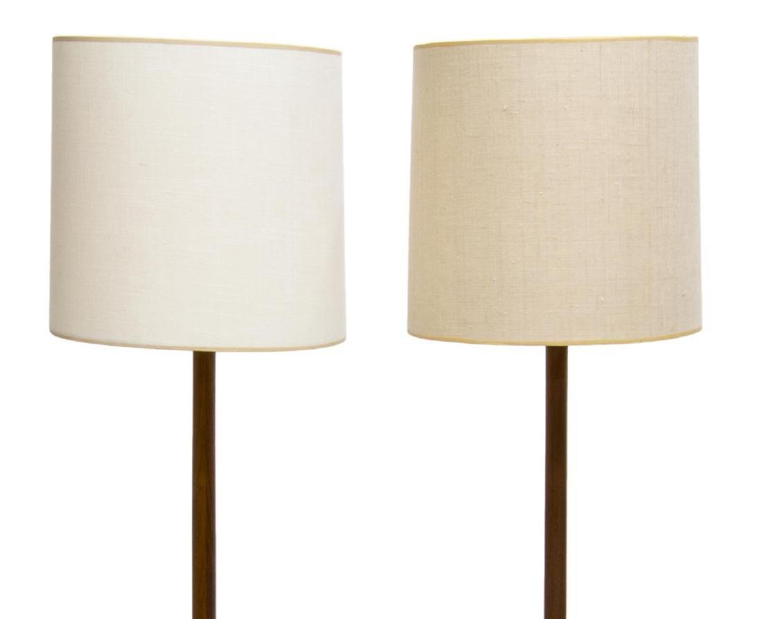 (2) MID-CENTURY MODERN TEAKWOOD FLOOR LAMPS