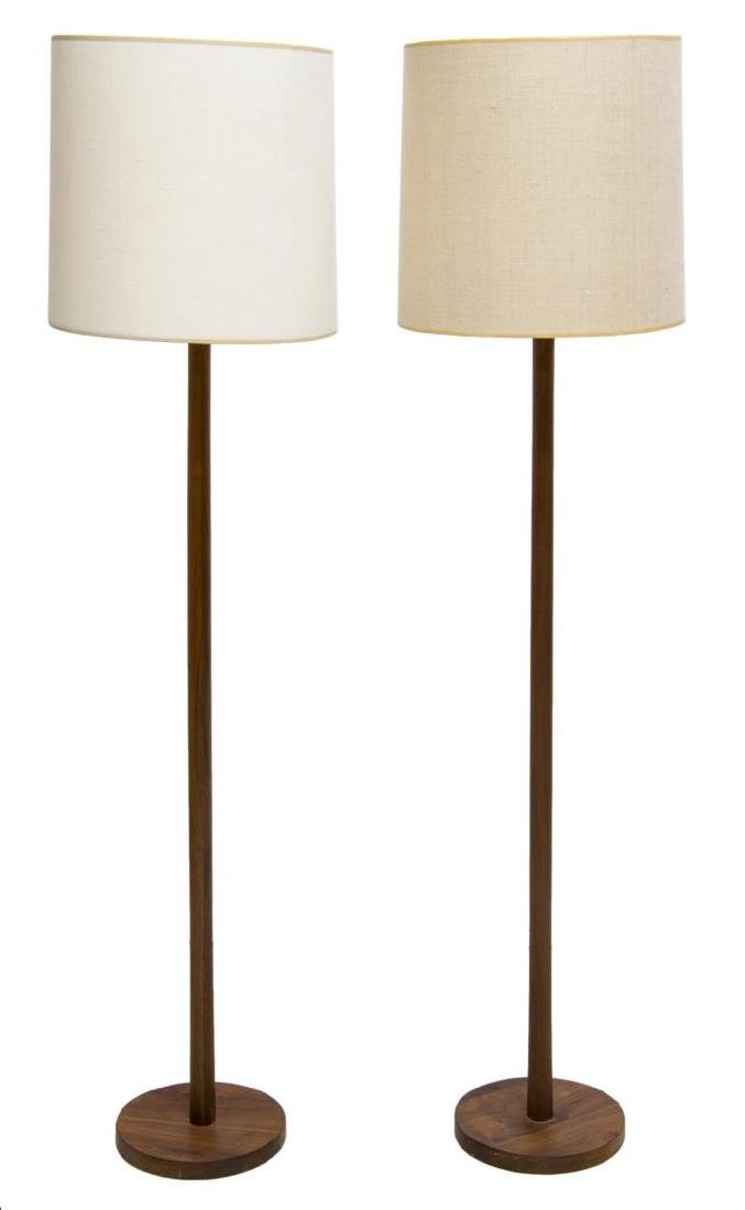 (2) MID-CENTURY MODERN TEAKWOOD FLOOR LAMPS - 2