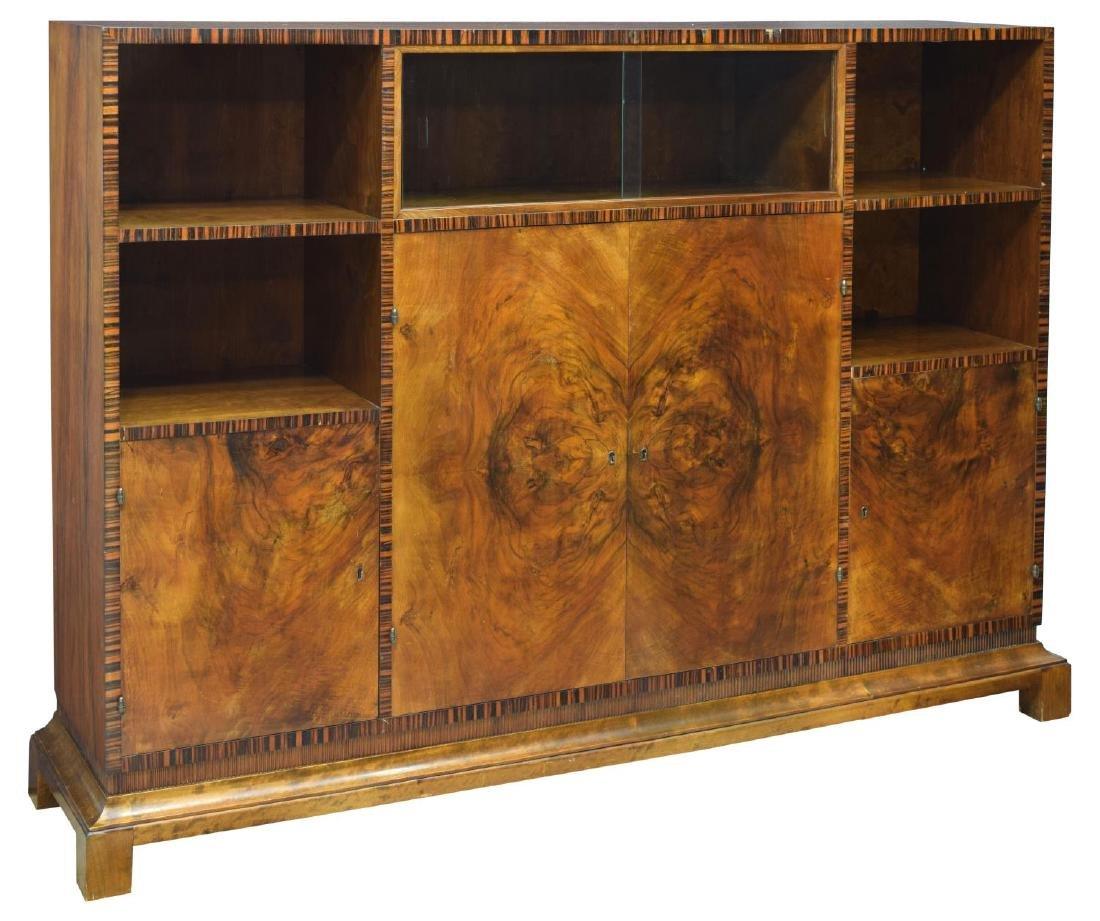 danish art deco rosewood bookcase display cabinet