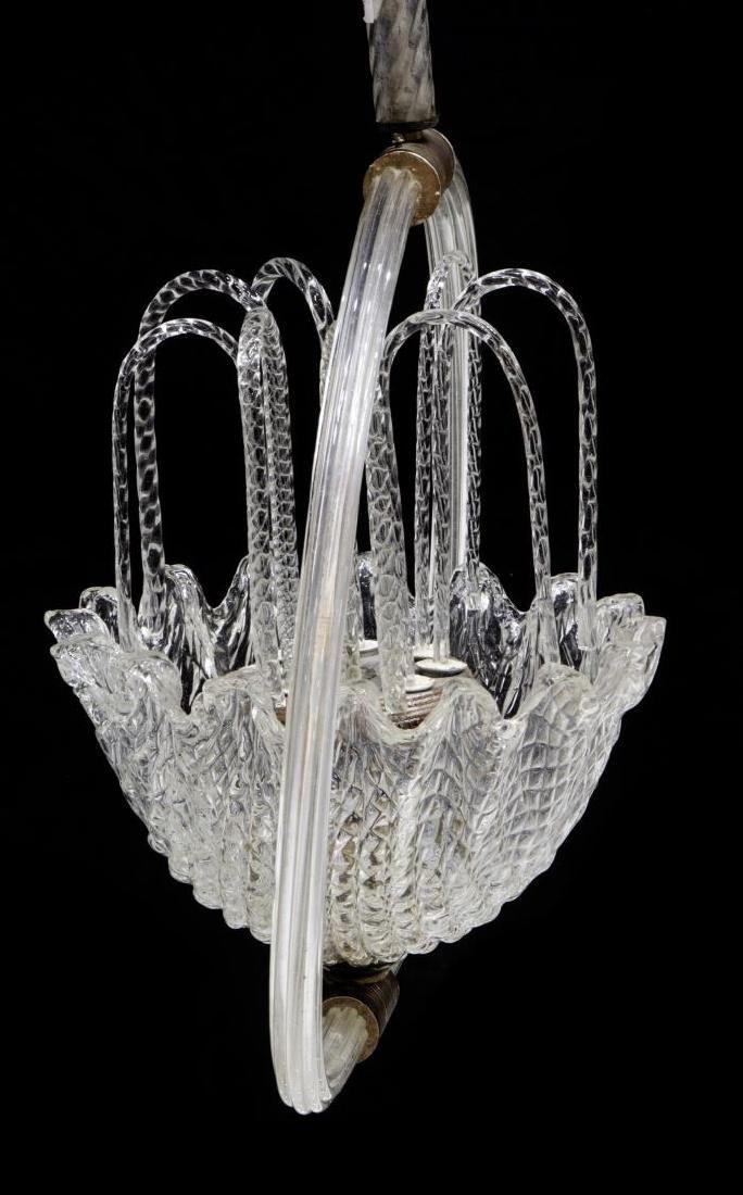 ITALIAN MID-CENTURY MODERN MURANO GLASS CHANDELIER