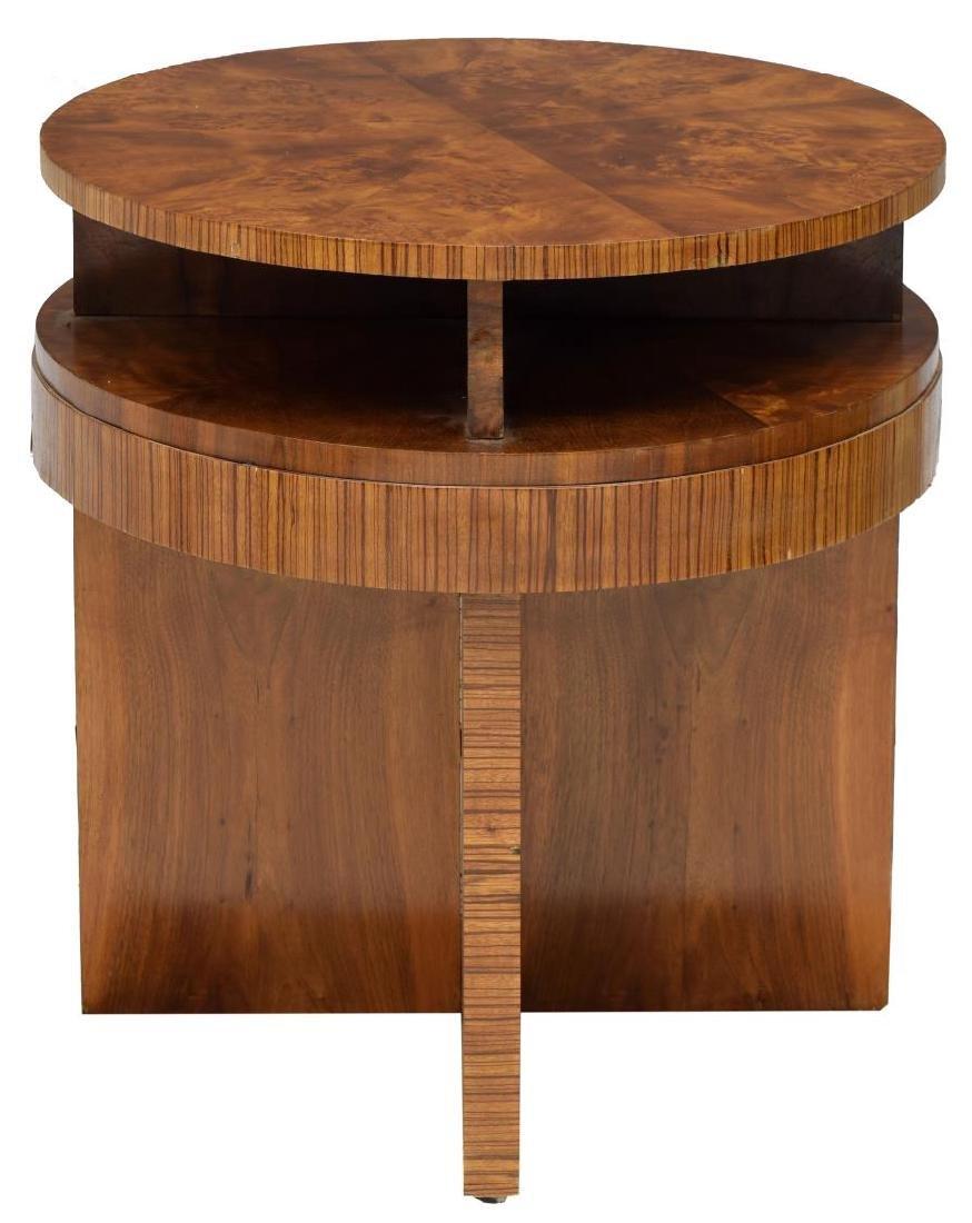 FRENCH ART DECO BURLWOOD VENEER SIDE TABLE - 2