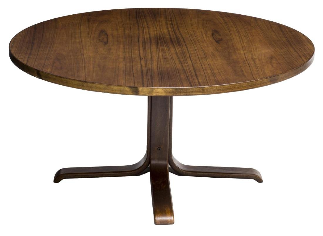 DANISH MID-CENTURY MODERN CIRCULAR COFFEE TABLE - 2