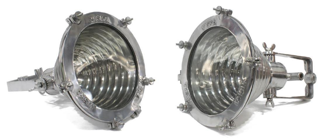 (2) GERMAN WISKA VINTAGE STYLE SHIP'S PENDANT LAMP - 2