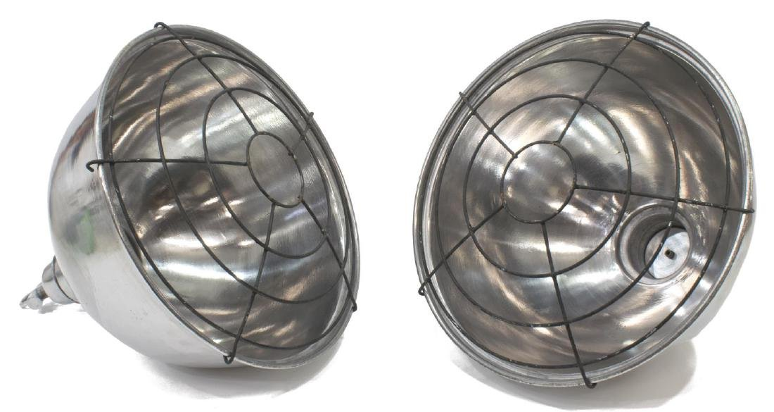 (2) INDUSTRIAL STYLE ALUMINUM HANGING LIGHTS - 2