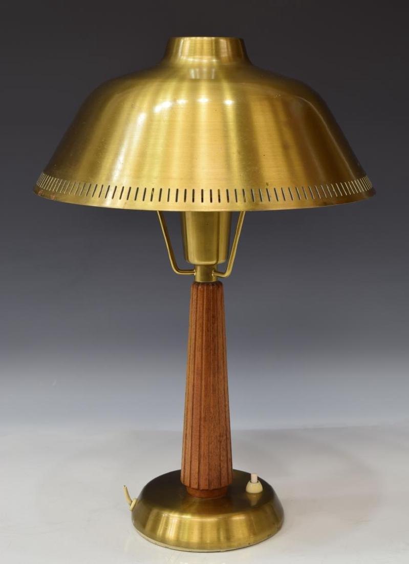 AESA MID-CENTURY MODERN TEAK & BRASS TABLE LAMP