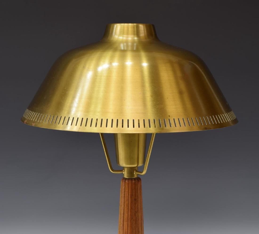 AESA MID-CENTURY MODERN TEAK & BRASS TABLE LAMP - 2
