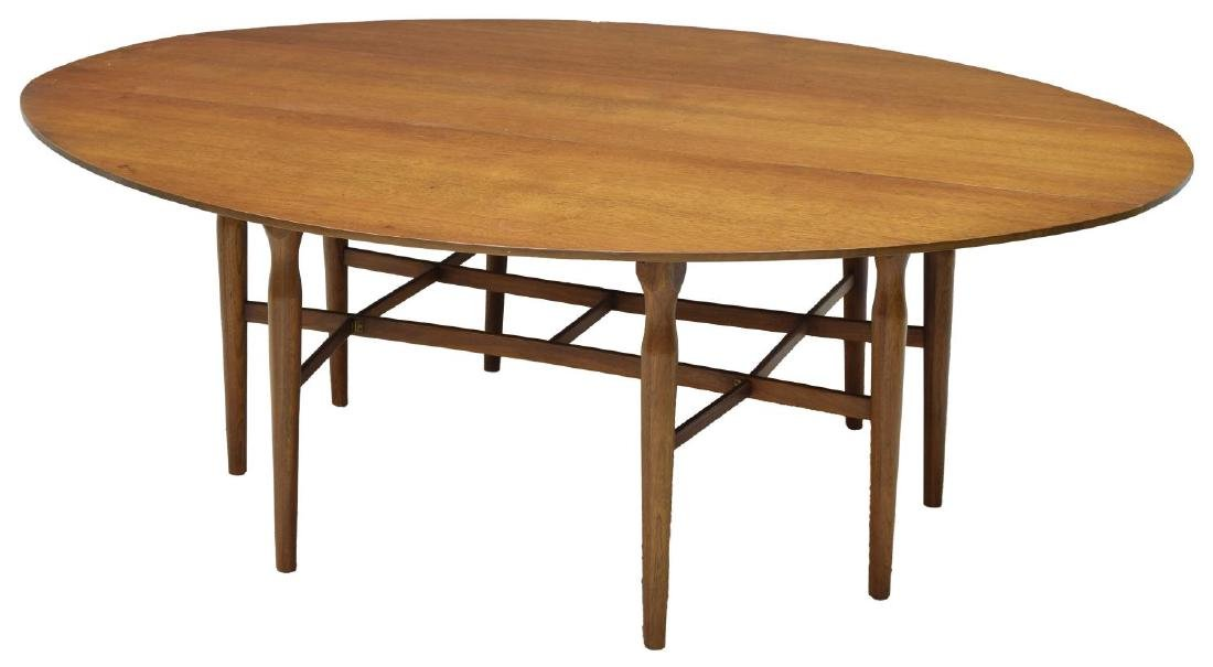 LARGE HENREDON MID-CENTURY MODERN DROP LEAF TABLE