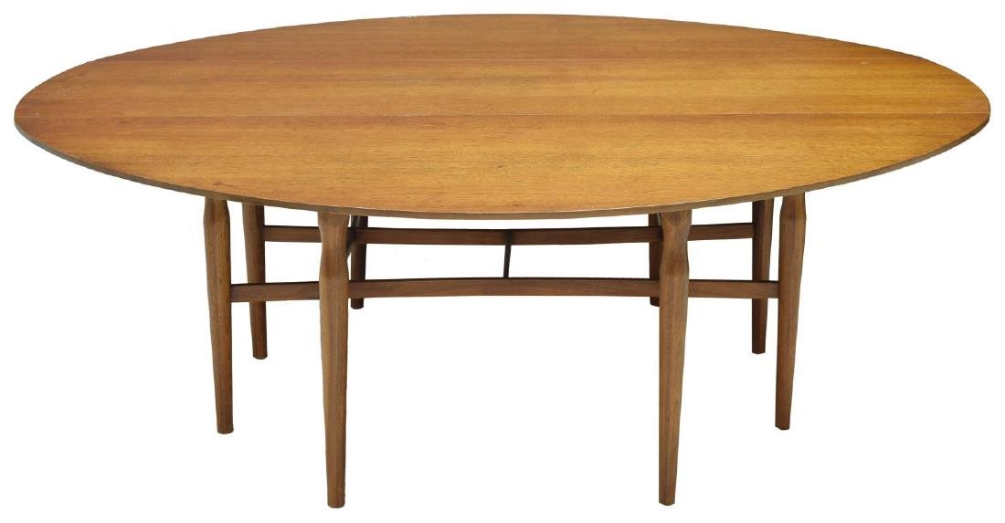 LARGE HENREDON MID-CENTURY MODERN DROP LEAF TABLE - 2