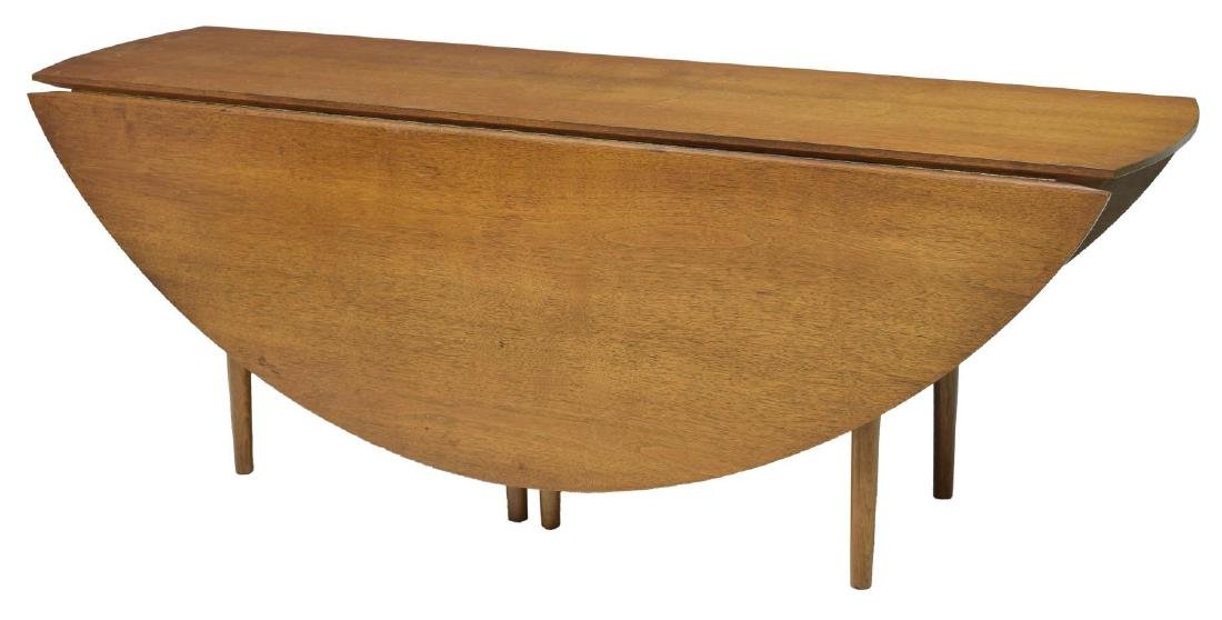 LARGE HENREDON MID-CENTURY MODERN DROP LEAF TABLE - 4