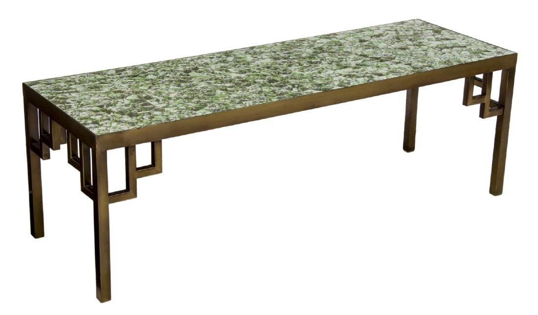 (PAIR) MOSAIC DESIGN METAL FRAMED TABLES - 2