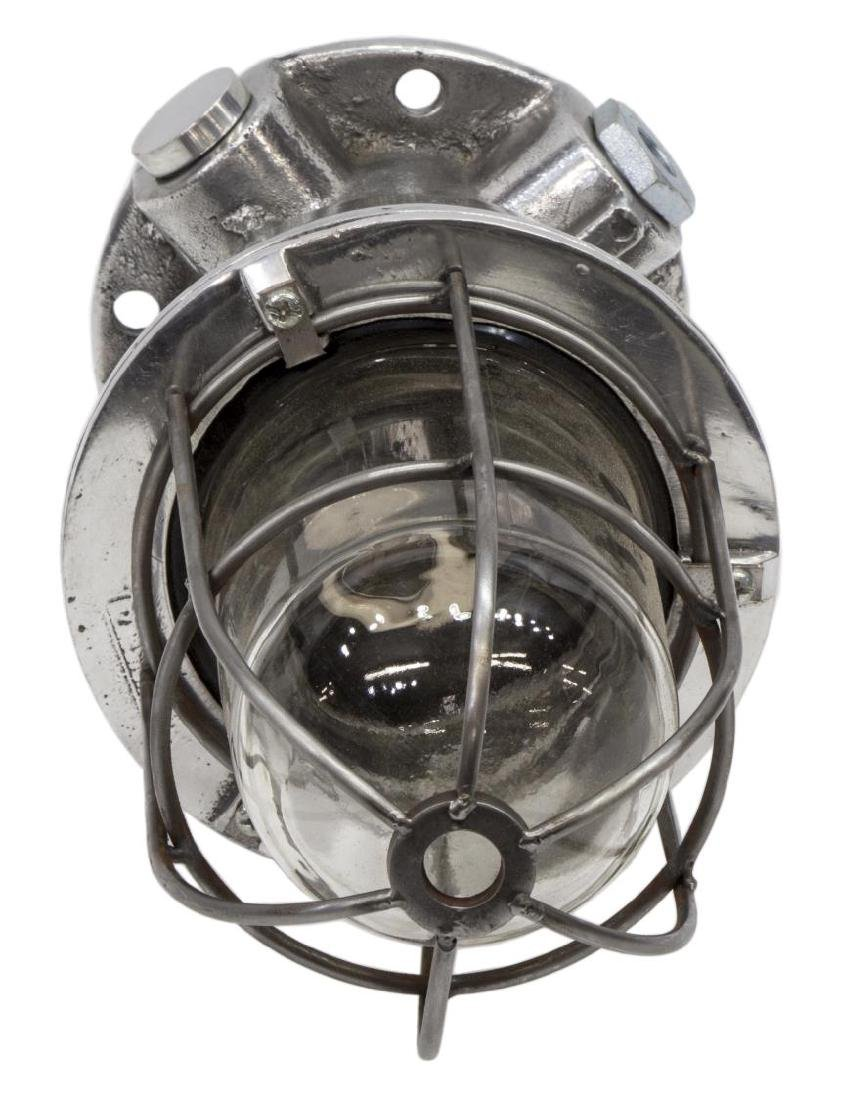 (2) INDUSTRIAL STYLE ALUMINUM CAGED PENDANT LAMP - 2
