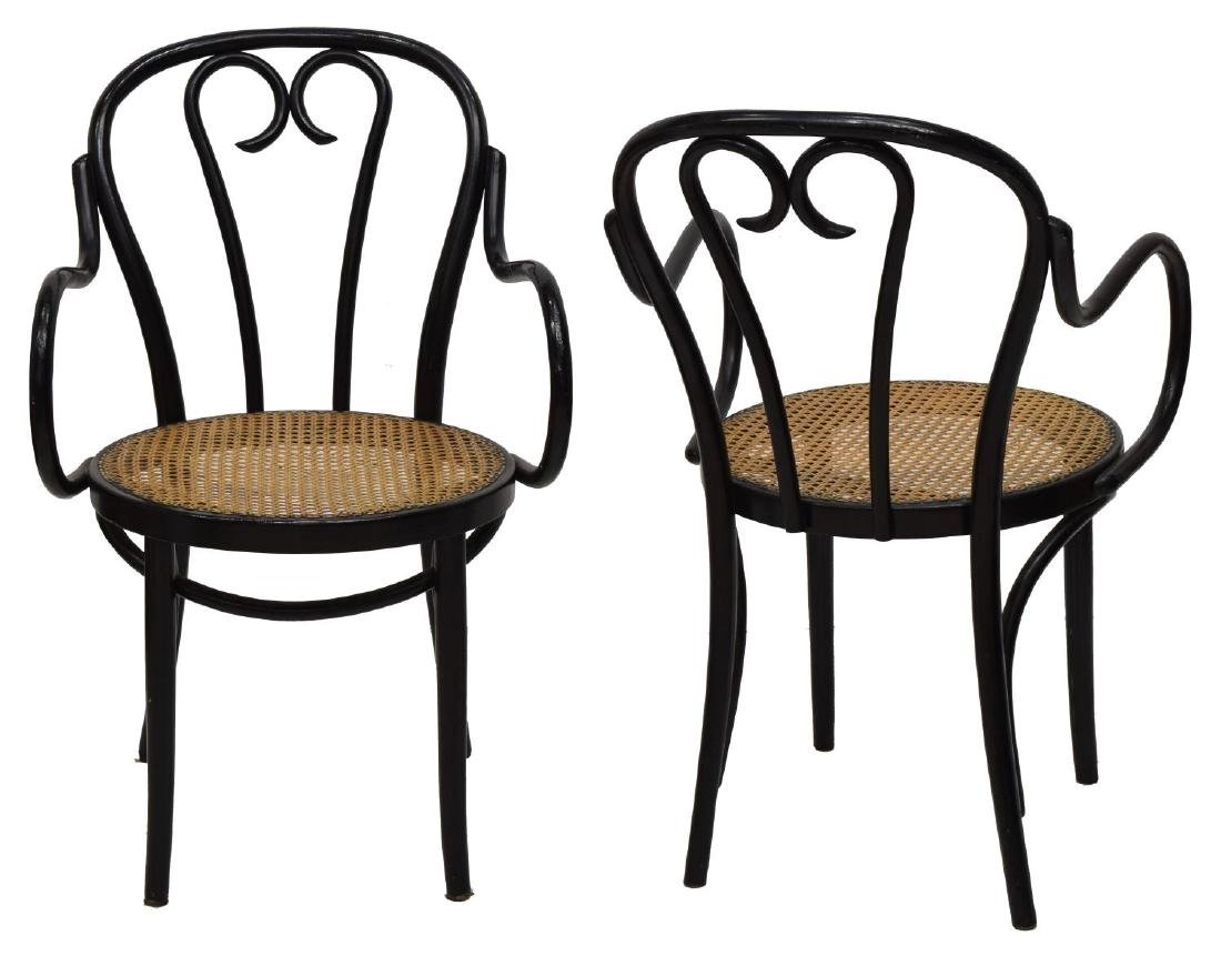 (2) THONET STYLE BENTWOOD ARM CHAIRS - 2
