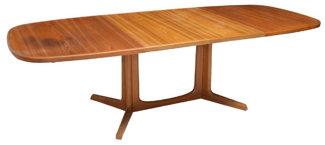 DANISH MID-CENTURY TEAKWOOD DINING TABLE W/ LEAVES