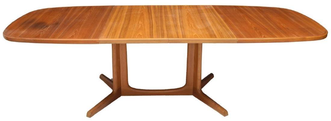 DANISH MID-CENTURY TEAKWOOD DINING TABLE W/ LEAVES - 2