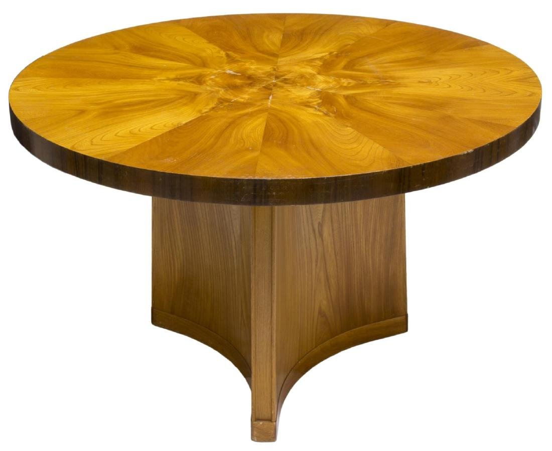 SWEDISH ART DECO ELM & MAHOGANY CENTER TABLE