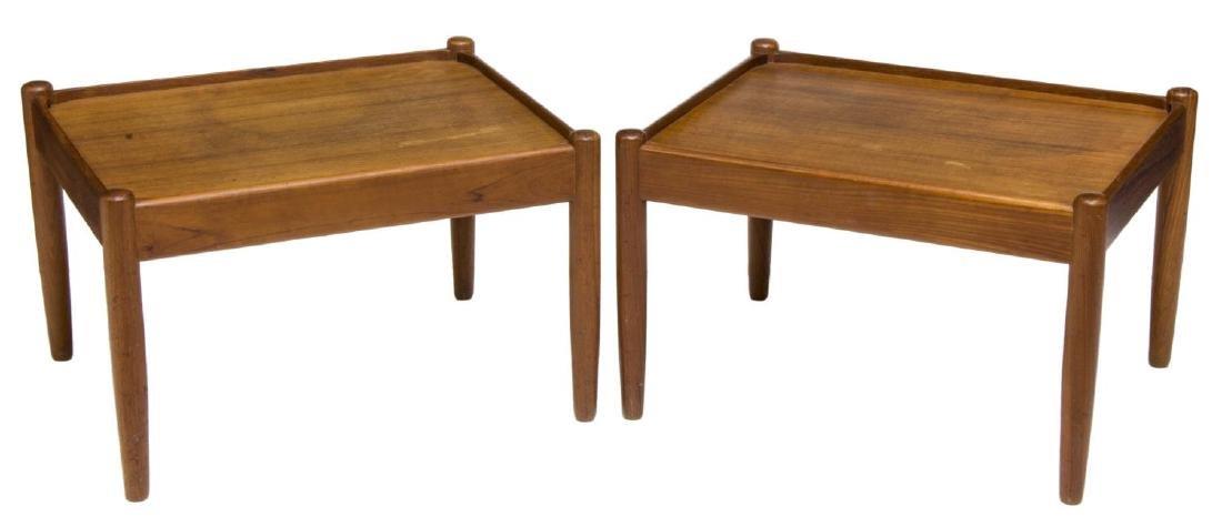 (2) DANISH MID-CENTURY SIGNED STOOLS / TABLES