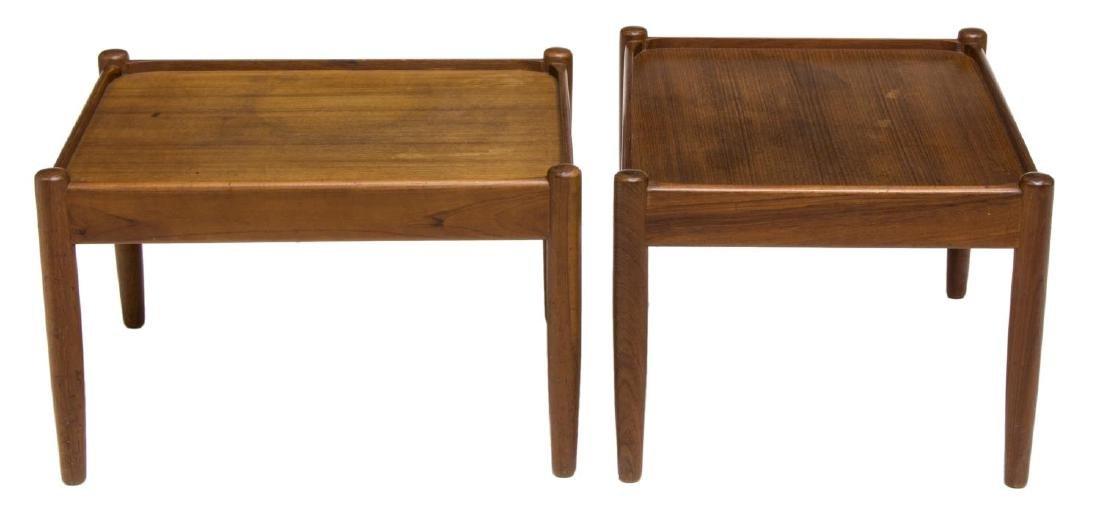 (2) DANISH MID-CENTURY SIGNED STOOLS / TABLES - 2