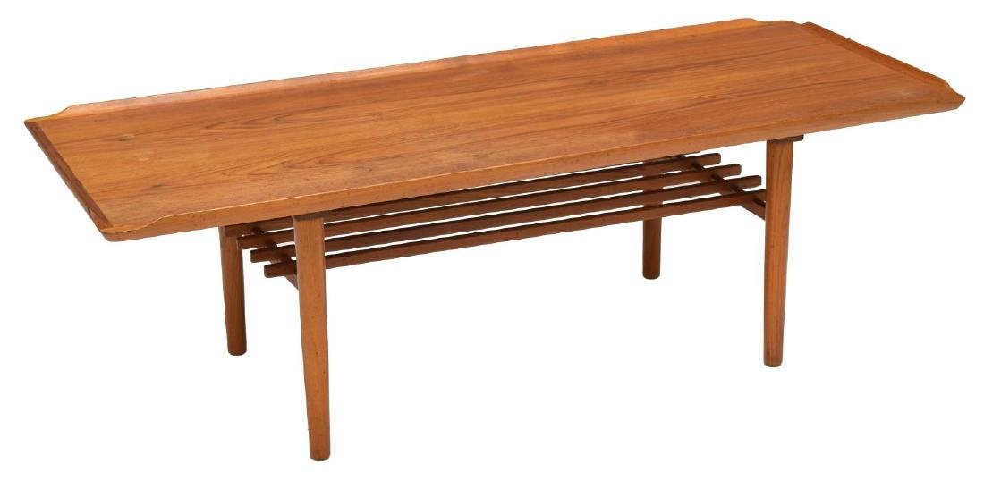 DANISH MID-CENTURY MODERN TEAK COFFEE TABLE SIGNED