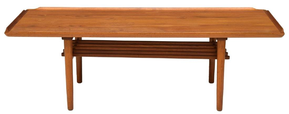 DANISH MID-CENTURY MODERN TEAK COFFEE TABLE SIGNED - 2