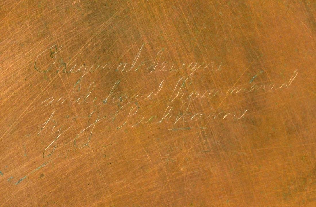 (6) J. PECKHAM ARTS & CRAFTS COPPER CHARGER PLATES - 2