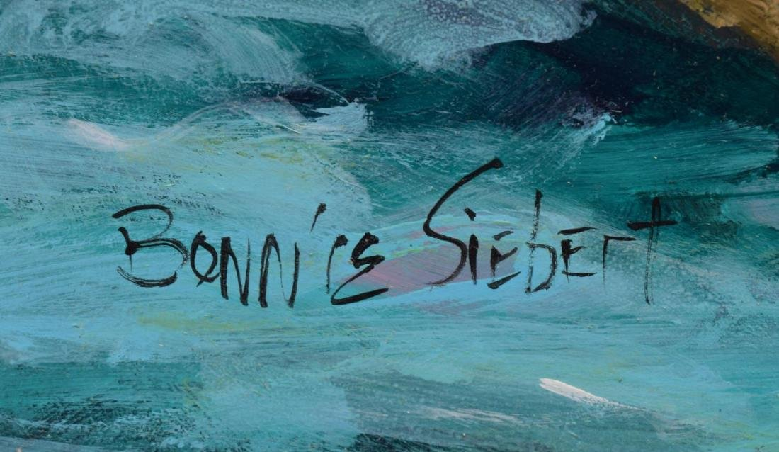 BONNIE SIEBERT (TEXAS) PAINTING, COUPLE BOAT SCENE - 5