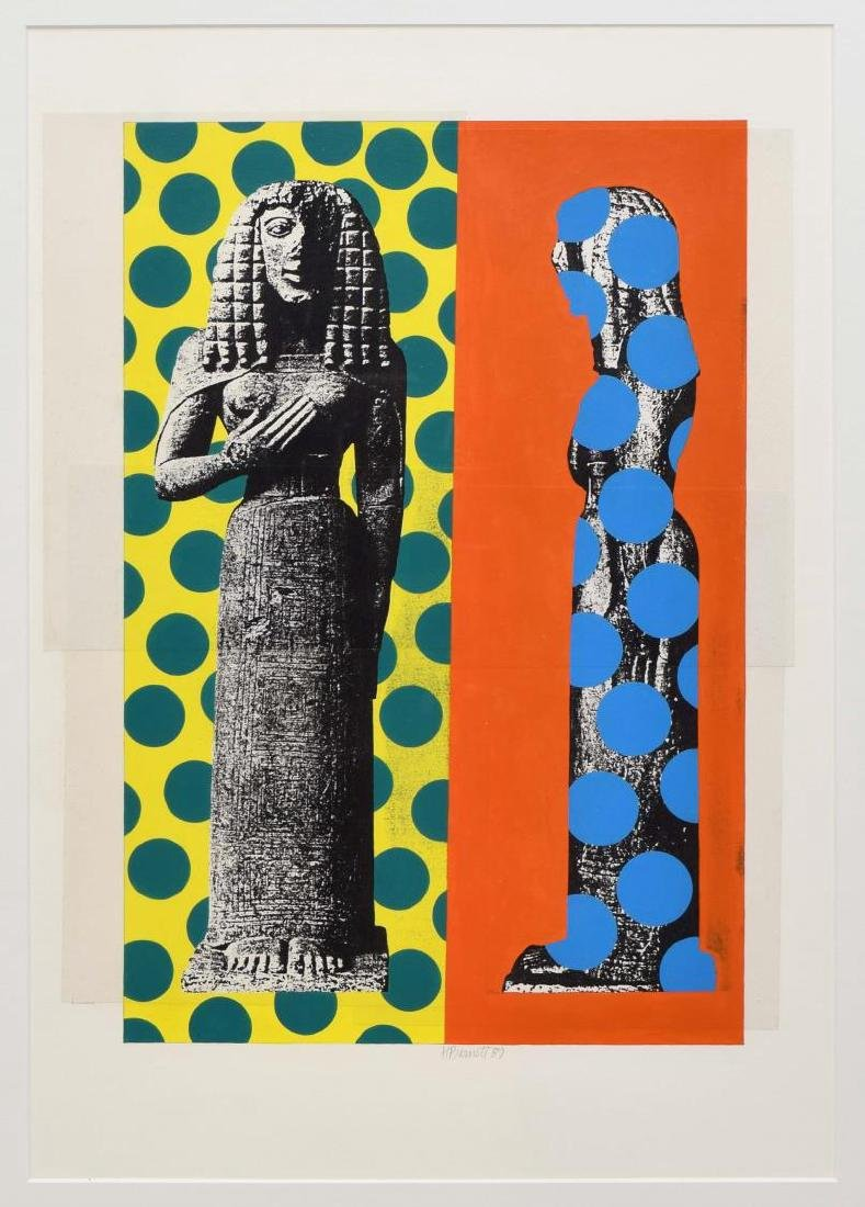 HELMUT BARNETT (B. 1946) COLOR COLLAGE PRINT