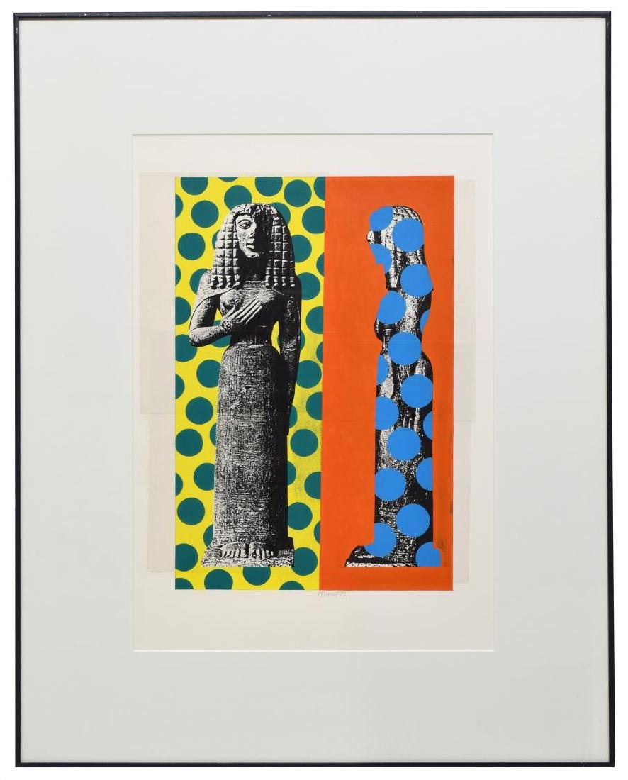 HELMUT BARNETT (B. 1946) COLOR COLLAGE PRINT - 2