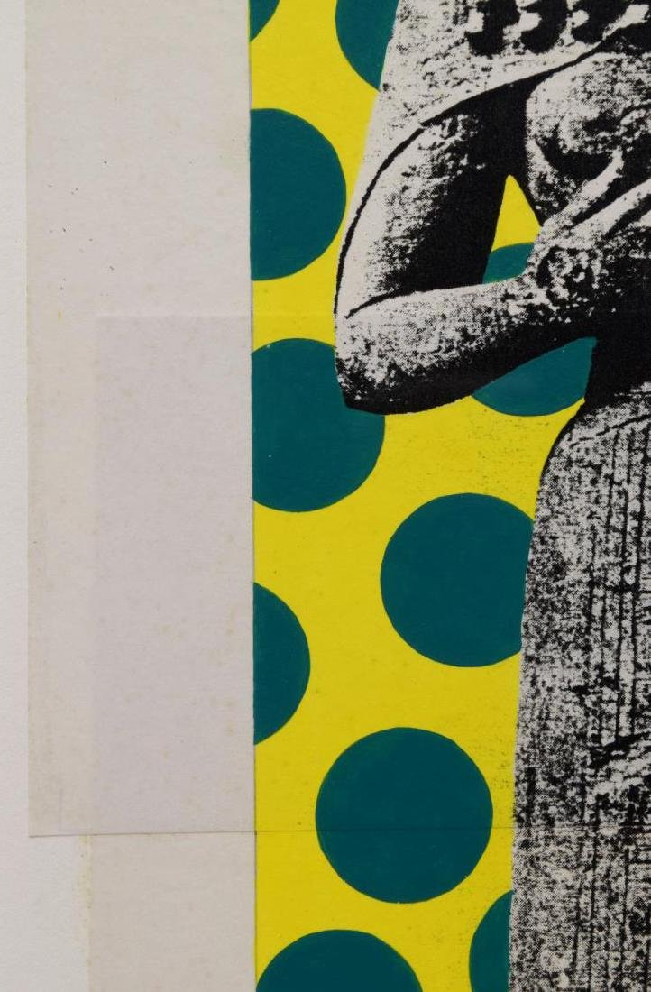 HELMUT BARNETT (B. 1946) COLOR COLLAGE PRINT - 3