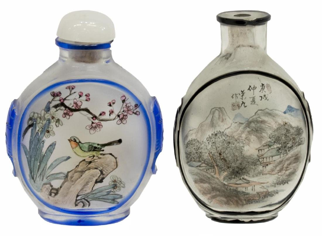 (8) CHINESE PAINTED OVERLAY JARS & SNUFF BOTTLES - 10