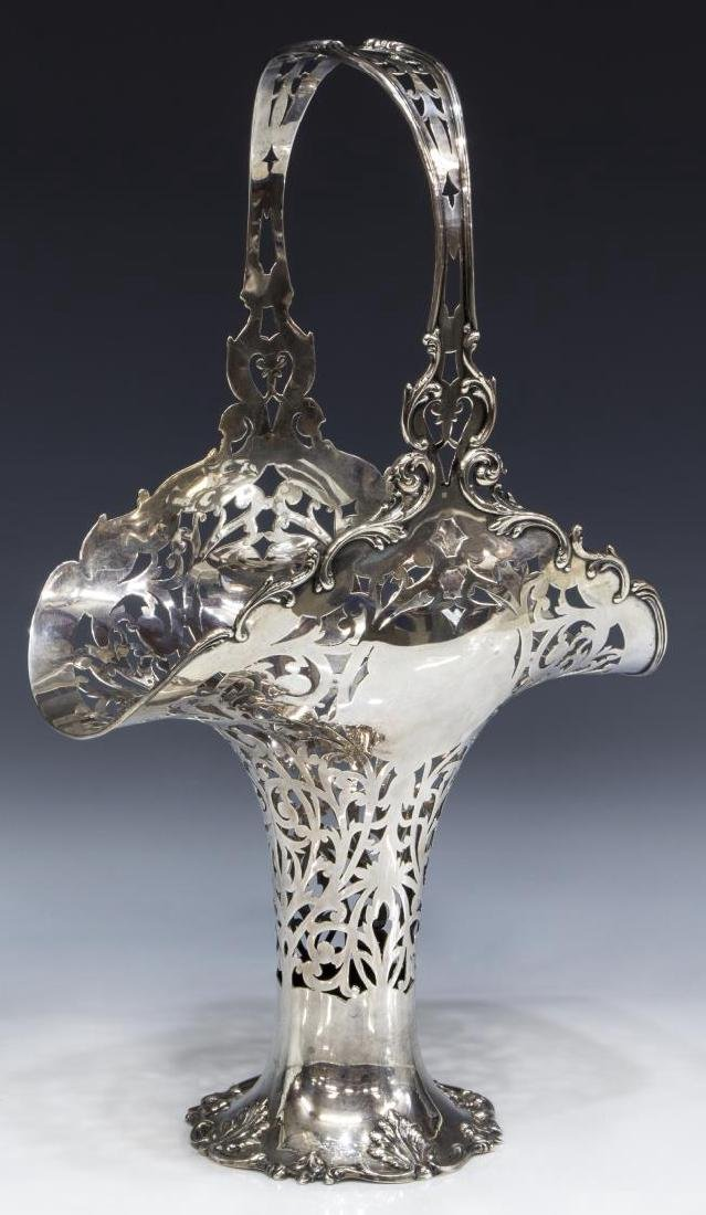 REED & BARTON STERLING SILVER RETICULATED BASKET