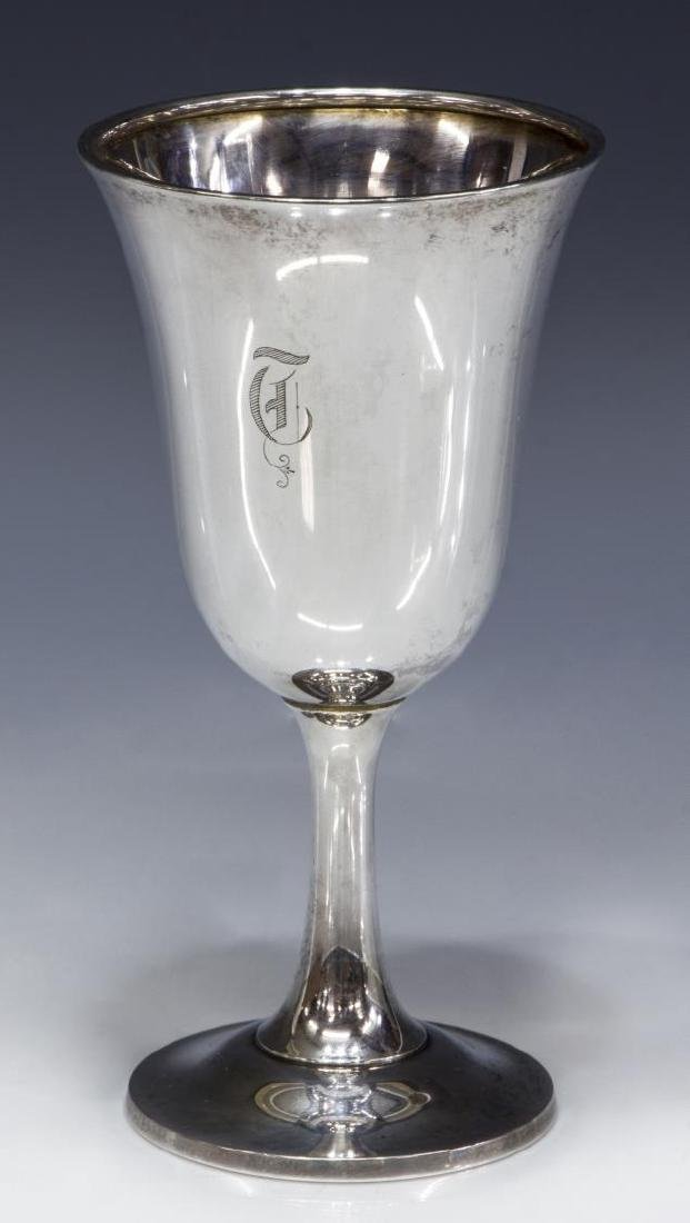 (5) WALLACE STERLING SILVER MONOGRAMMED GOBLETS - 2
