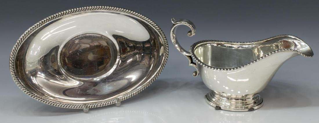 (2PC) GORHAM GADROONED SAUCE BOAT & UNDERPLATE - 2