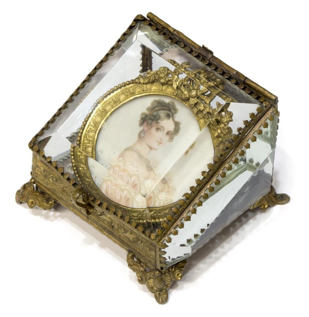 FRAMED SIGNED MINIATURE PORTRAIT OF A LADY