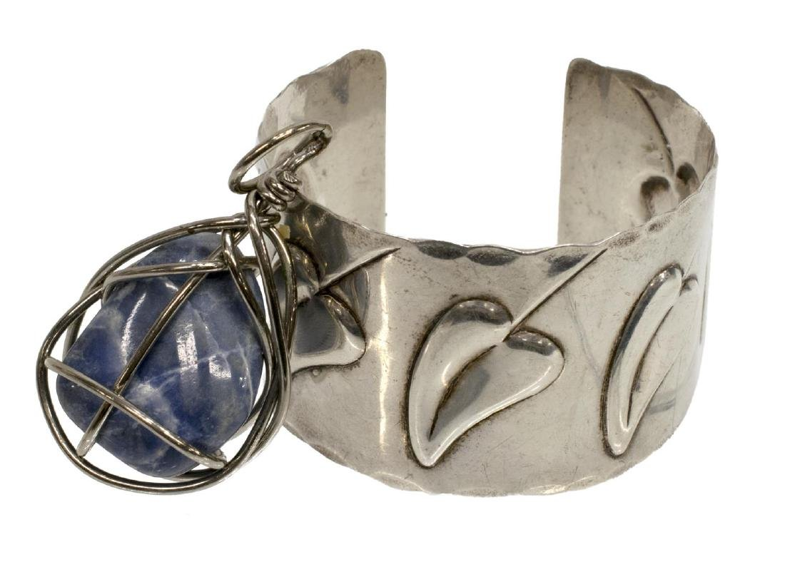 (2) FRANCISCO REBAJES (1905-1990) STERLING CUFF