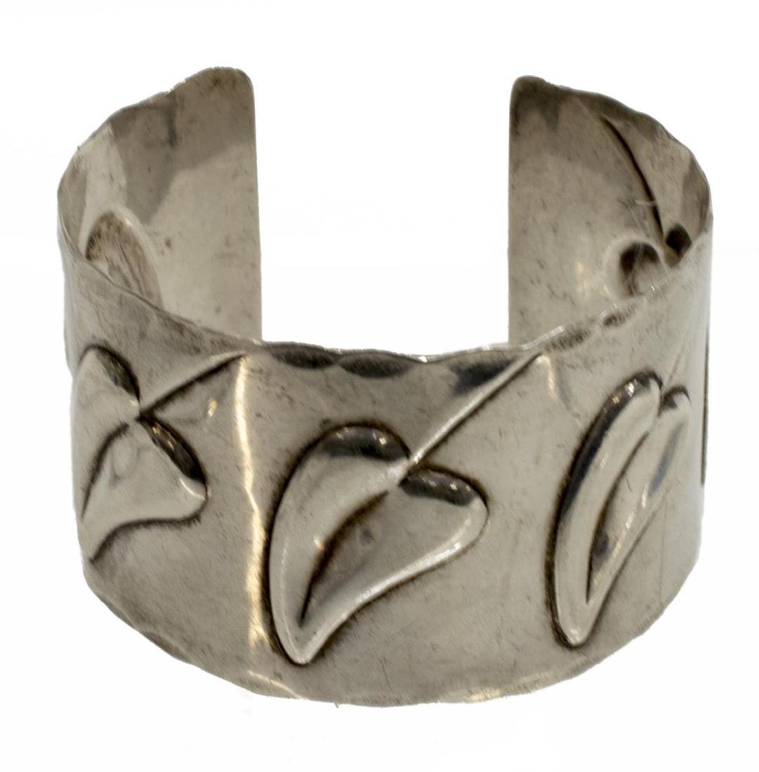 (2) FRANCISCO REBAJES (1905-1990) STERLING CUFF - 2