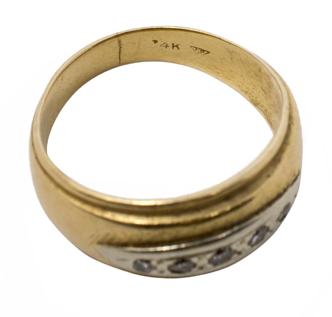 LADIES 14KT YELLOW GOLD & DIAMOND ESTATE RING - 3