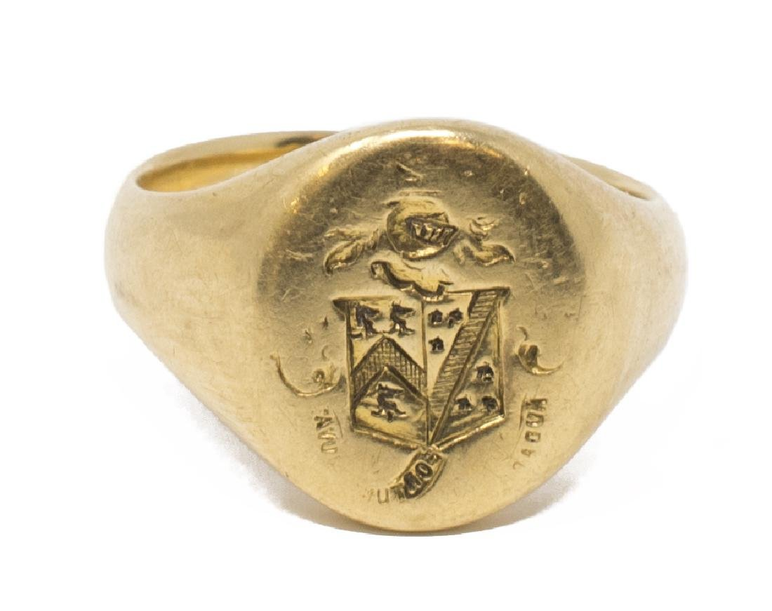 (3) ANTIQUE ESTATE GOLD RING GROUPING - 3