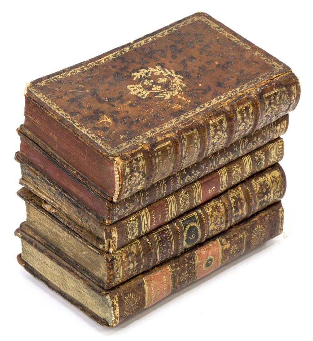 LEATHER BOOK HIDDEN TANTALUS DECANTER SET